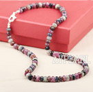 Natural Faceted Ruby Sapphire Stone Necklace