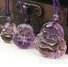 Natural Ametrine Laughing Buddha Pendant Necklace