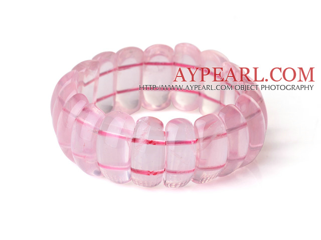 Beautiful Natural Rose Quartz Bangle Bracelet