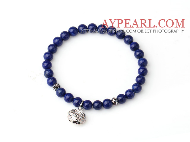 Sample Design Single Strand Natural 5A Lapis Bracelet With 925 Sterling Silver Lucky Bag