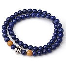 Sample Design Double Strands Natural 4A Lapis Bracelet With 925 Sterling Silver Accessory