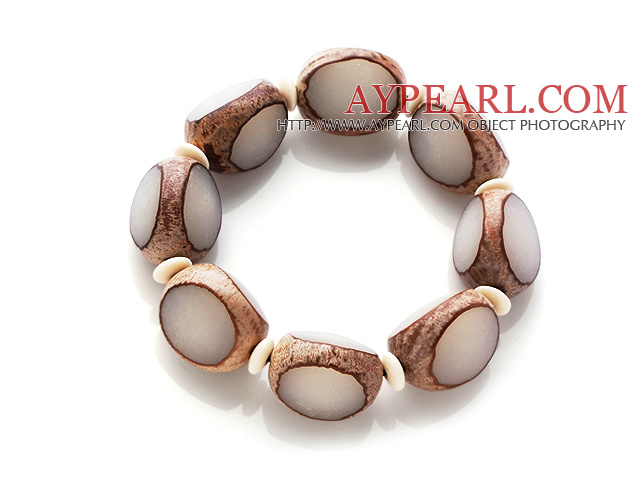 Special Single Strand Bodhi Root And Corozo Nut Bracelet