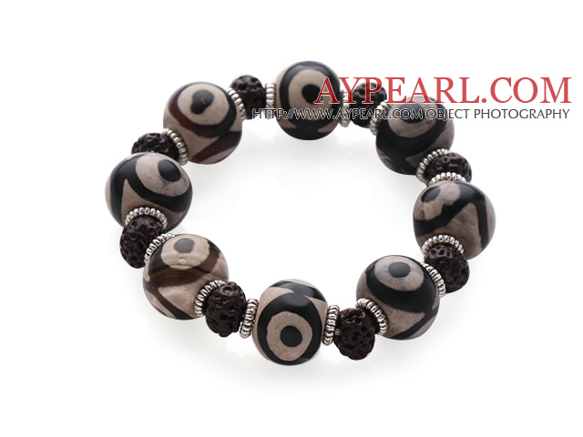 Vintage Style Single Strand Natural Agate Bracelet(3 Different Kinds To Choose)