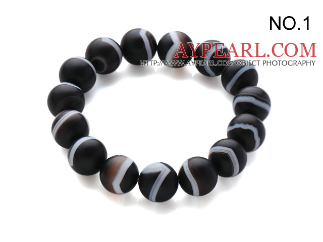 Simple Classic Design Single Strand Natural Agate Bracelet(2 Different Kinds To Choose)