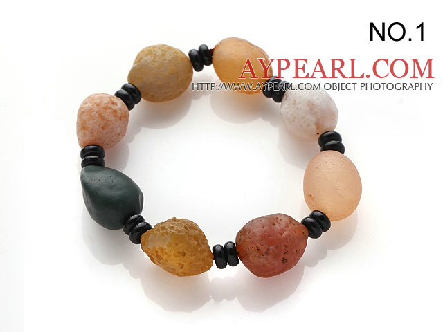 Special Irregular Shape Agate Stones Bracelet(Small Beads Design / Large Beads Design )