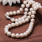 Gorgeous Fashion Grade A 8-9mm Natural White Freshwater Pearl Halsband (No Box)
