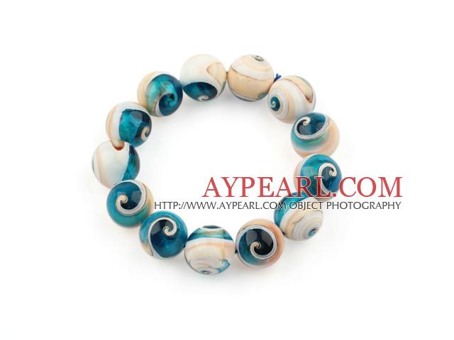 Ματιών 14 χιλιοστά φυσικό μπλε χάντρες