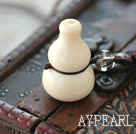 Natural Corozo Nut Cucurbit Shape Pendant Necklace
