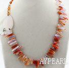 Assorted Natural Color Round Aagate and Branch Shape Agate Necklace