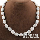 Simple Forme Ovale Strand coquillages Collier dim.