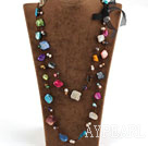 Assorted Multi Color Pearl Shell Long Style Necklace
