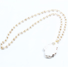 Wholesale Simple Style Single Strand White Howlite Pendant Necklace