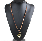 Long Style A Style 10mm Round Black Agate Beaded Necklace with White Rhinestone Beads