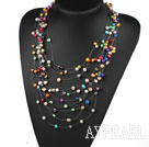 Wholesale Multi Layer (12 Layer) Assorted Multi Color Multi Pearl Necklace