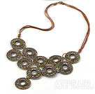 Wholesale Vintage Style Bronze Necklace with Bronze Thread