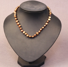 Simple Trendy Style Natural Brown Potato Pearl Necklace