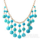 New Design Järvi Blue Candy Jade tupsu Kaulakoru Metal Chain