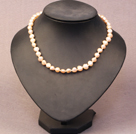 Simple Trendy Style Natural Pink Potato Pearl Necklace