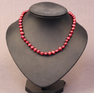 Simple Trendy Style Natural Red Potato Pearl Necklace