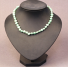 Simple Trendy Style Natural Light Green Pearl Necklace