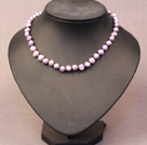 Two Strands Black with Colorful Coin Pearl Necklace with Gray Round Pearl Beads