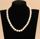 Best Mother Gift Graceful 10-11mm Natural White Pearl Party Necklace
