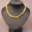 Simple Trendy Style Natural Bright Yellow Potato Pearl Necklace