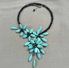 5 Pieces Black Color Stripe Painted Shell Necklace with Lobster Clasp