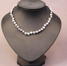Simple Trendy Style Natural Gray Potato Pearl Necklace
