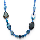 Dark Blue Series assorties multi Forme Bleu collier d'agate