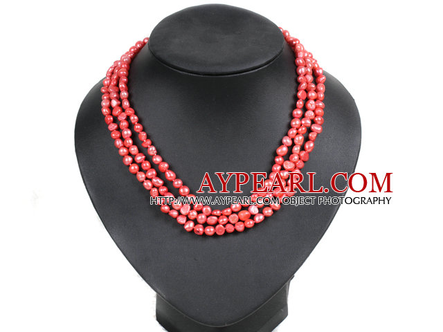 2013 Summer New Design Burst Pattern Turquoise and Red Coral Woven Leather Necklace with Gray Leather