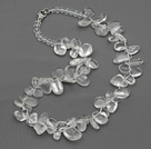 New Design Assorted Multi Shape Top Drilled Clear Crystal Necklace