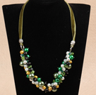 Wholesale Single Strand A Grade Round Malachite Beaded Knotted Necklace