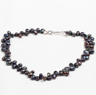 Wholesale Multi Strands Carnelian and Irregular Shape Natural Color Agate Necklace with Extendable Chain