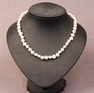 Simple Trendy Style Natural White Potato Pearl Necklace
