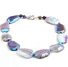 Clasic de design Multi Color Faceted Agate colier Chunky