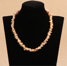 Fashion 5-6mm Natural White Freshwater Pearl Necklace With Nice Rhinestone Pendant