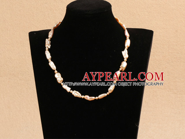 Best Mother Gift Graceful Natural Pink Rebirth Pearl Party Necklace