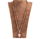 Fashion Natural Brown Freshwater Pearl Colored Glaze Heart Pendant Necklace