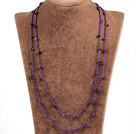 Pretty New Long Style Garnet Chips Purple Thread Necklace(Also can be Bracelet)