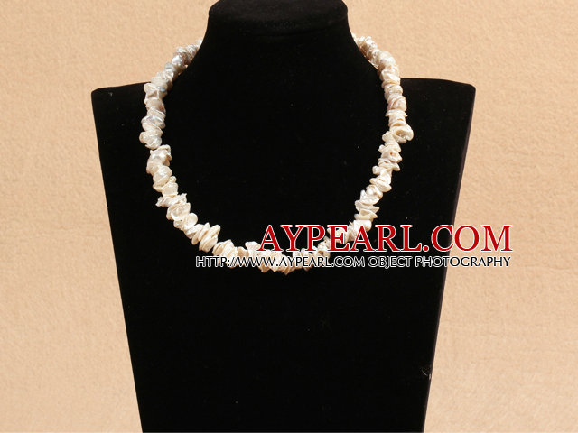 Pretty Multilayer Wired White Ab Color Teardrop Crystal And Round Seashell Pearl Flower Necklace