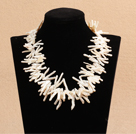 Statement Party Style Branch Shape Natural White Rebirth Pearl Necklace