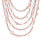 Wholesale Beautiful Fashion Multi Layer Opal and Clear Crystal Party Necklace