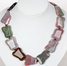 Chunky Necklace Indian Agate Necklace for Women