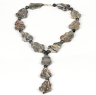 Y Necklace Picasso Stone Necklace for Women