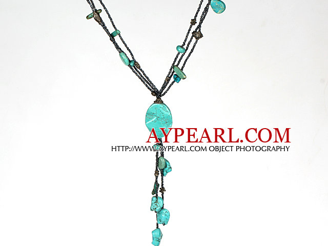 Y Necklace Fashion Style Turquoise Necklace for Women