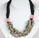 Bold Necklace Multi Strands Leopard Spot Chips Necklace