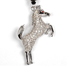 Wholesale White Gold Plated Horse Pendant Necklace with Metal Chain