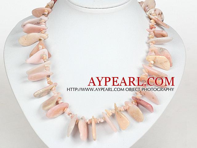 Irregular Shape Pink Opal Stone Necklace