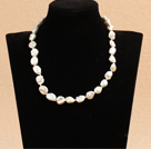 Best Mother Gift Graceful Irregular Shape Natural White Rebirth Pearl Party Necklace